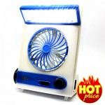 Light Fan Solar Energy 30 LED With Flashlight Rechargeable