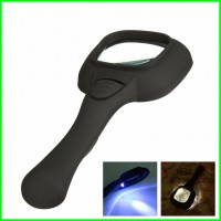 Handheld Magnifier Glass Lens With LED and UV Light